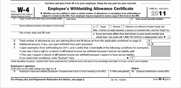 Image Gallery mo w 4 tax form
