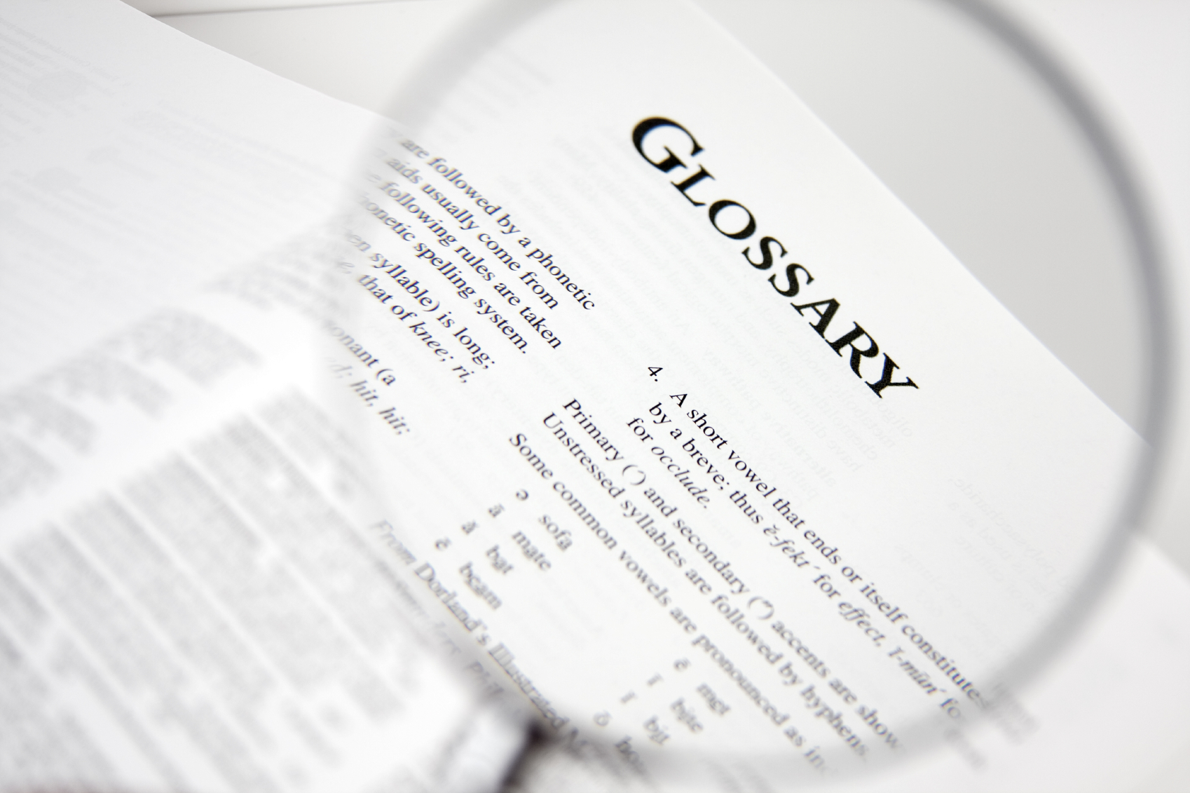 Image for healthcare glossary blog post 2.7.13