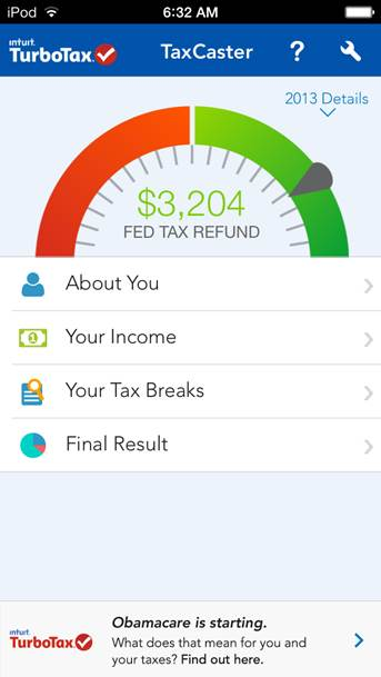 TaxCasteriOS7Screenshot