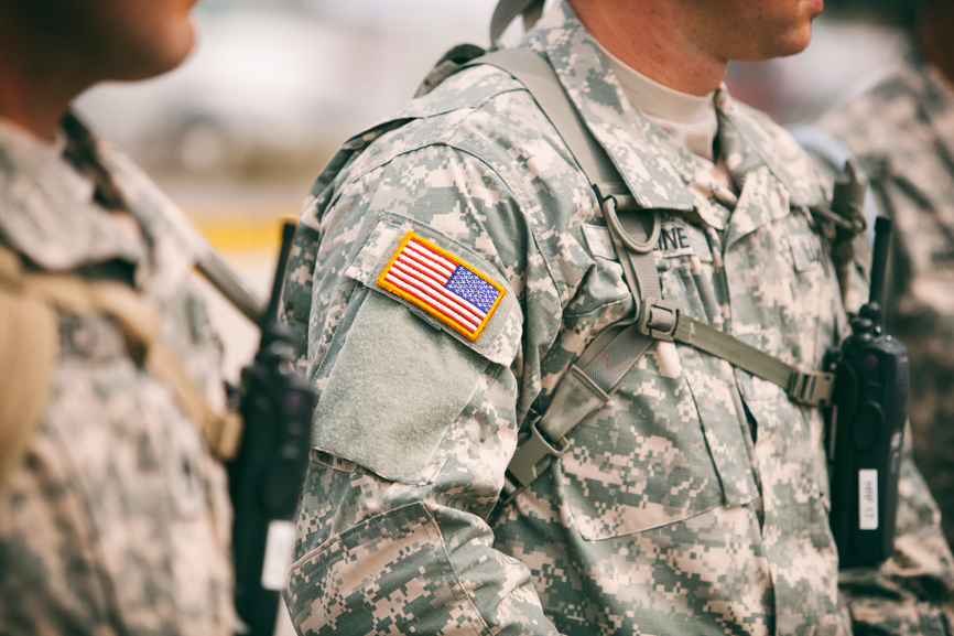 Ferguson: Group Of National Guard Soldiers Stand By Checkpoint