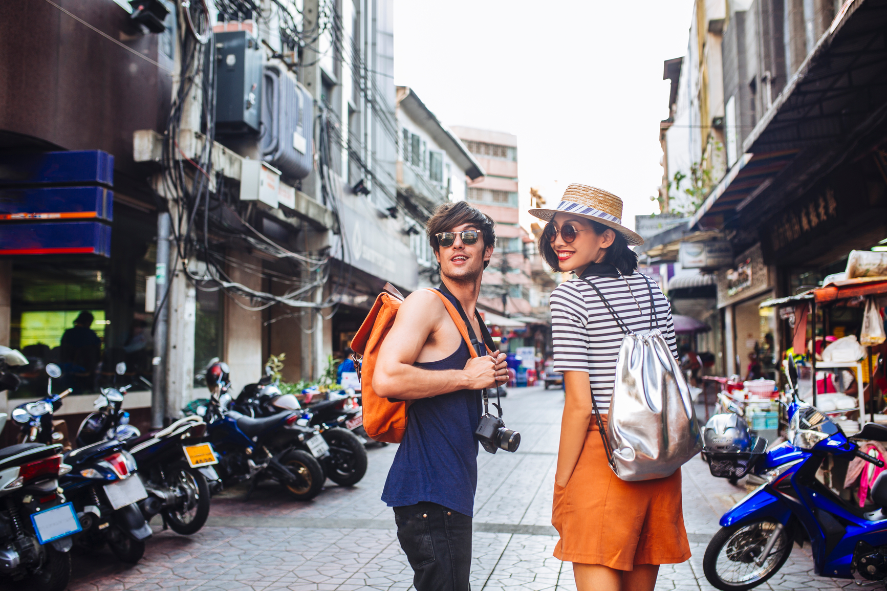 Couple on the Streets of Bangkok